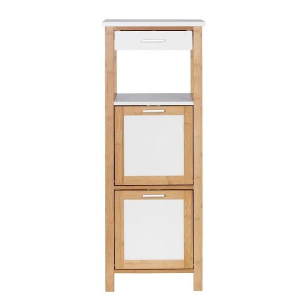 Bambusový koupelnový regál se 2 policemi a úložným prostorem Wenko Finja