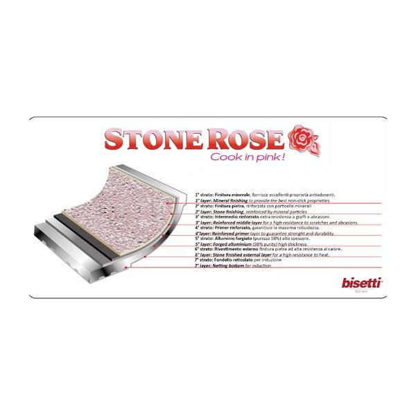 Sada 3 pánví Bisetti Stonerose Rose Giovanni