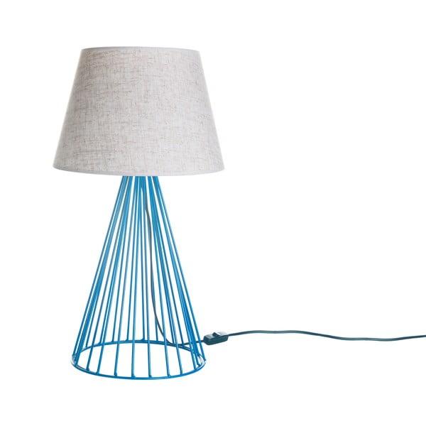 Stolní lampa Wiry Blue/Beige