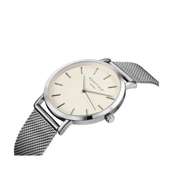 Stříbrnobílé dámské hodinky Rosefield The Mercer