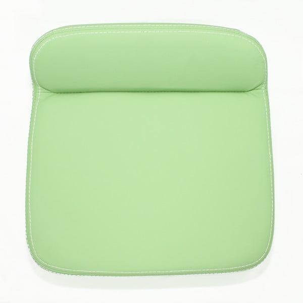 Ergonomický kožený podsedák, světle zelený