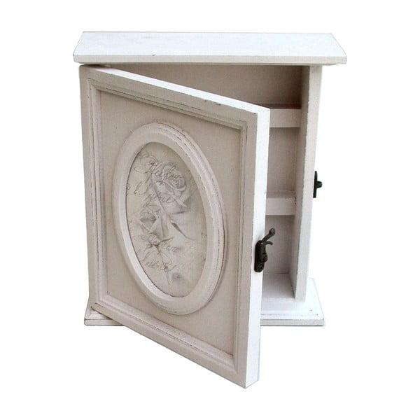 Bílá skříňka na klíče Bolzonella