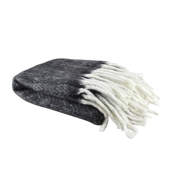 Vlněný pléd Wool Black, 130x160 cm