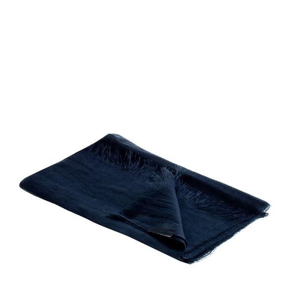 Lněný šátek Luxor 65x200 cm, tmavě modrý