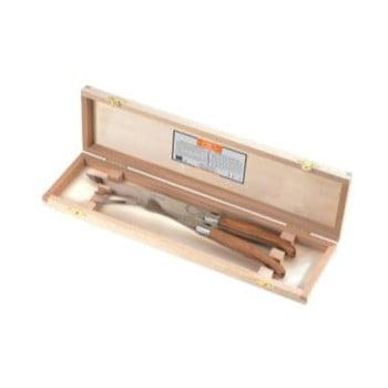 Set 2 cuțite din inox, suport din lemn Jean Dubost