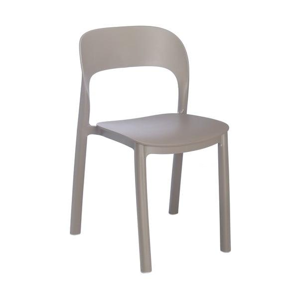 Zestaw 4 brązowych krzeseł ogrodowych Resol Ona