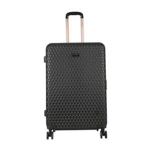 Černý cestovní kufr LULU CASTAGNETTE Rachel, 107l