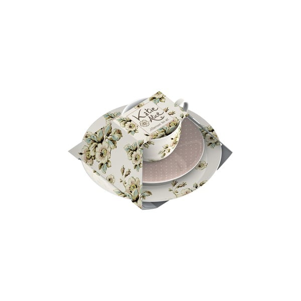 Porcelánový šálek s podšálkem a dezertní talíř Cottage Flower