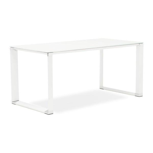 Bílý pracovní stůl se skleněnou deskou Kokoon Warner