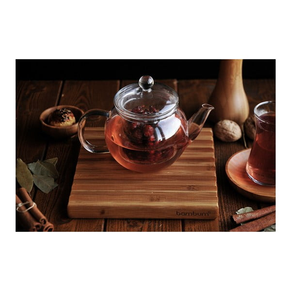 Ceainic de sticlă Bambum Petunia, 500 ml