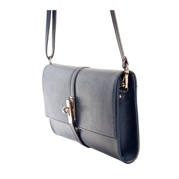 Tmavě modrá kožená kabelka Andrea Cardone 1010