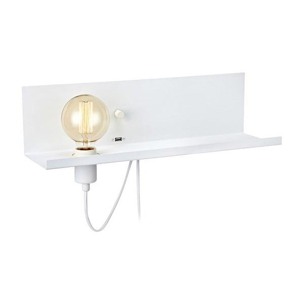 Biele nástenné svietidlo s USB nabíjacou stanicou Markslöjd Multi