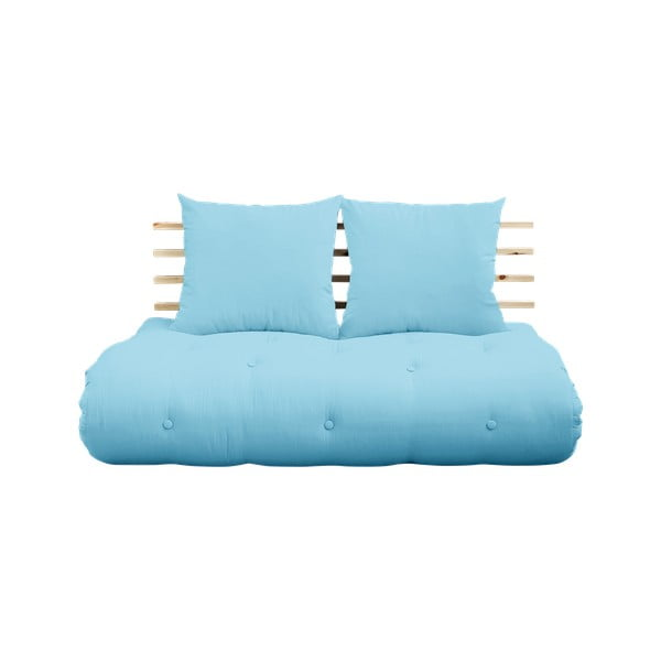 Canapea variabilă Karup Design Shin Sano Natur/Light Blue