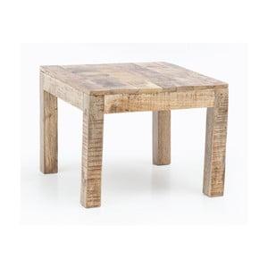 Konferenční stůl z masivního mangového dřeva Skyport RUSTICA, výška 47 cm