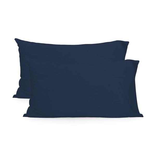 Sada 2 tmavě modrých bavlněných povlaků na polštář Happy Friday Basic, 50x75cm