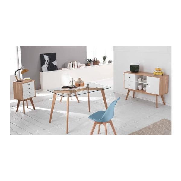 Sada 4 modrých židlí Design Twist Tom