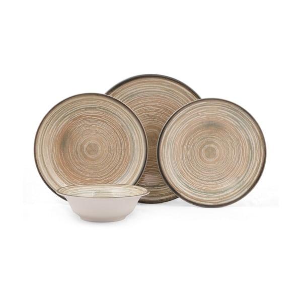 24-częściowy zestaw talerzy porcelanowych Kutahya Farsio