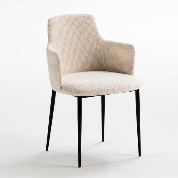 Bílá polstrovaná židle s opěradly na ruce Thai Natura