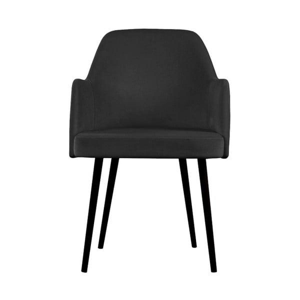 Tmavě šedá jídelní židle JohnsonStyle Lagom French Velvet