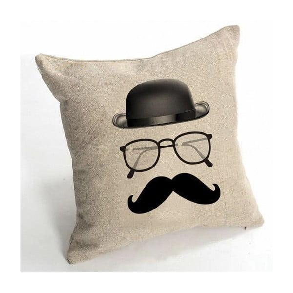 Povlak na polštář Le Moustache, 45x45 cm