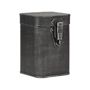 Recipient metalic pentru depozitare LABEL51, înălțime 17cm, negru imagine