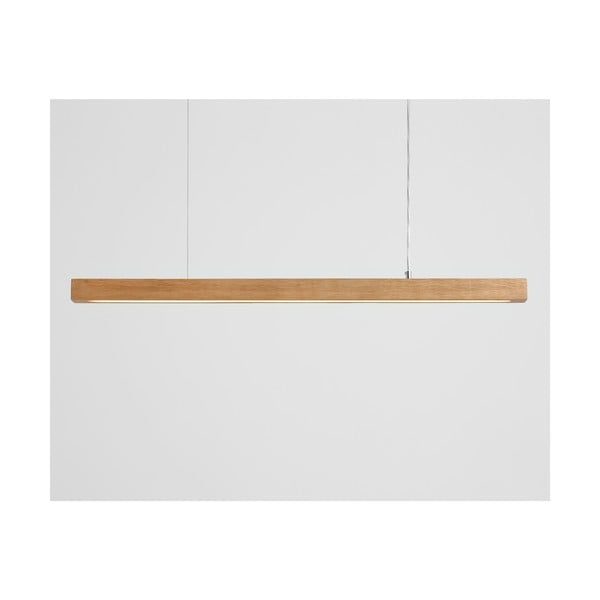 Závěsné svítidlo z dubového dřeva Custom Form Line Plus L Woody