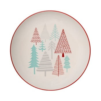 Farfurie din gresie ceramică Bloomingville Lucia, ⌀ 25 cm, alb imagine