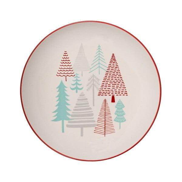 Farfurie din gresie ceramică Bloomingville Lucia, ⌀ 25 cm, alb