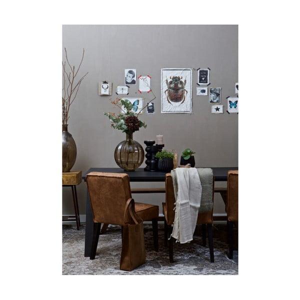 Sada 2 hnědých židlí s potahem z recyklované kůže De Eekhoorn Rodeo