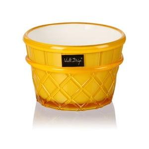 Žlutý pohár na dezert Vialli Design Livio, 266 ml