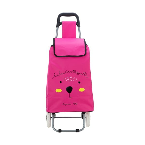 Różowa torba na zakupy na kółkach Lulucastagnette Cosette, 37 l
