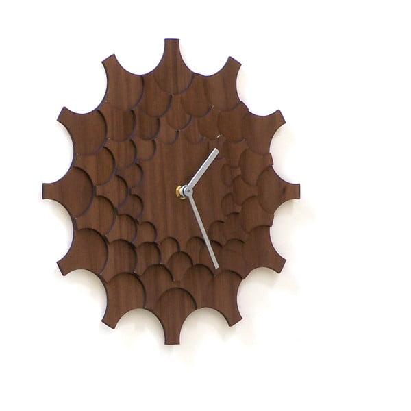 Dřevěné hodiny Cogwheel Walnut, 29 cm