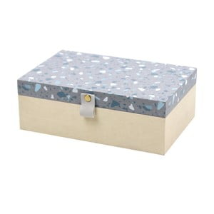 Dřevěný čajový úložný box Le Studio Terrazzo Tea Box