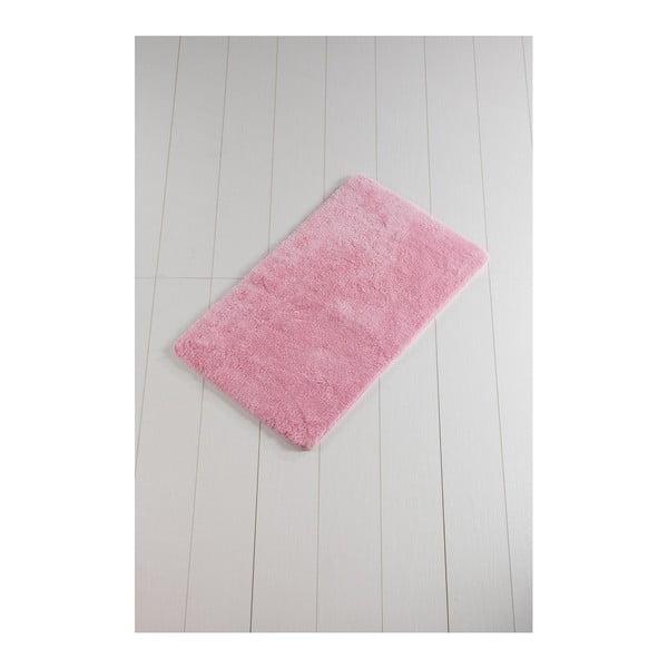 Růžová koupelnová předložka Lenso Lungo, 100 x 60 cm