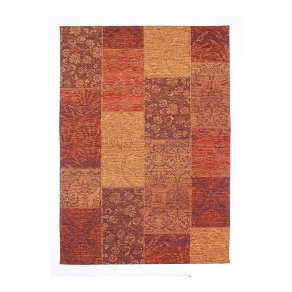 Červený koberec Flair Rugs Patchwork Chennile Terracotta, 155 x 230 cm
