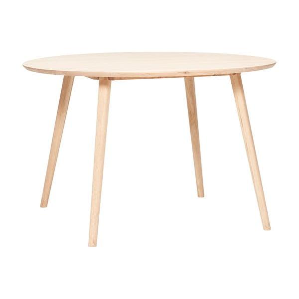 Jídelní stůl z dubového dřeva Hübsch Eluf, ⌀115cm
