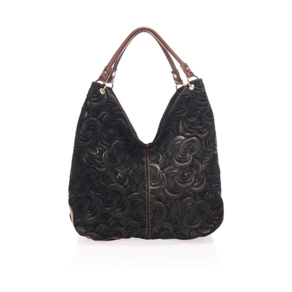 Černá kožená kabelka Giorgio Costa Terst ... 81ebf0f6910