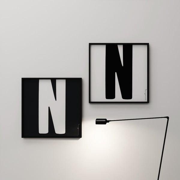 Plakát Litera N, 50x50 cm