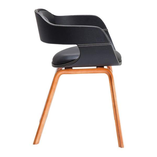 Jídelní židle s tmavým dřevěným podnožím Kare Design Costa