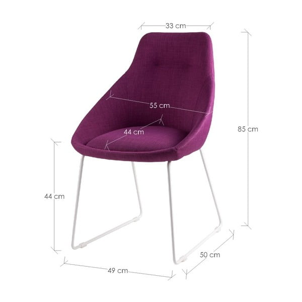 Set 2 scaune sømcasa Alba, roz