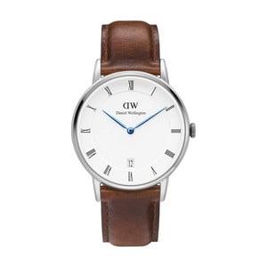 Pánské hodinky s hnědým páskem Daniel Wellington Durham SIlver, ⌀38mm