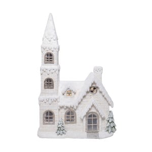 Bílá keramická dekorace ve tvaru domku Ewax Enchanted House, výška73cm