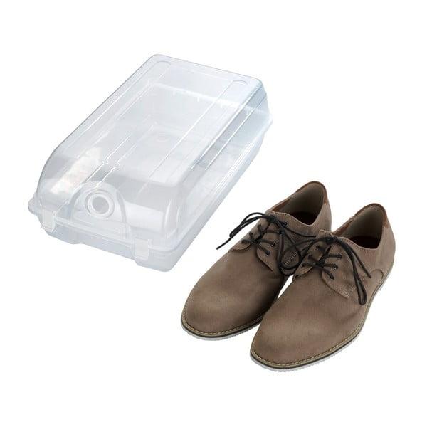 Przezroczysty pojemnik na buty Wenko Smart, szer. 21 cm