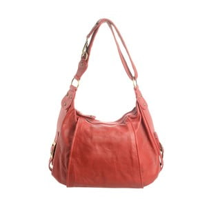 Červená kožená kabelka Tina Panicucci Petra