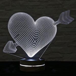 3D stolní lampa My Heart