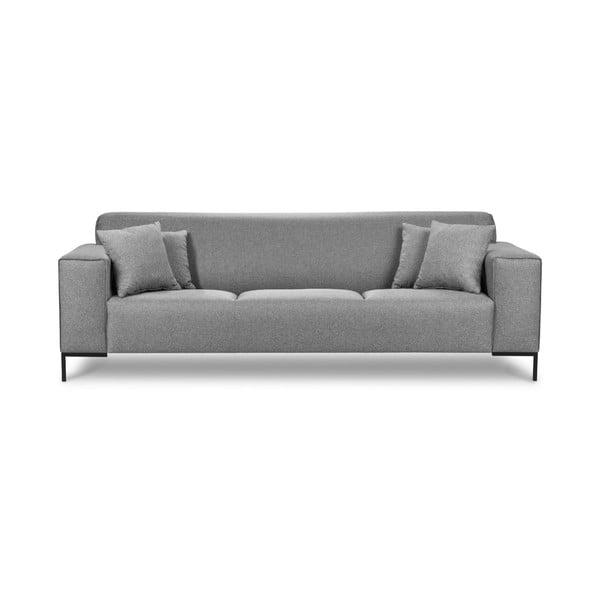 Szara sofa 3-osobowa Cosmopolitan Design Seville