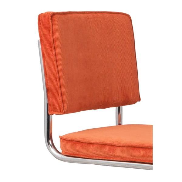 Set 2 scaune Zuiver Ridge Kink Rib, portocaliu - roșu
