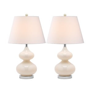 Sada 2 stolních lamp s perleťovou základnou Safavieh Gabriel