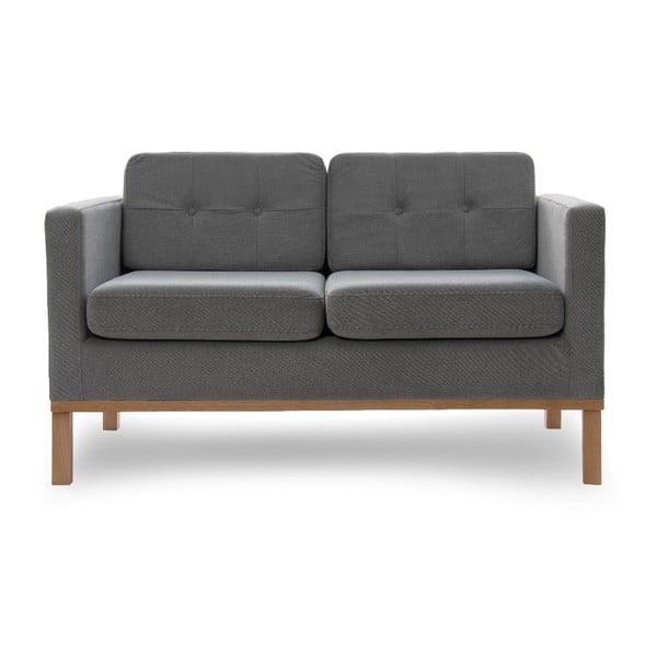 Sofa dwuosobowa VIVONITA Jonan Light Grey, naturalne nogi