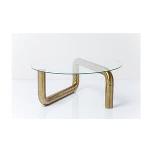 Măsuță  Kare Design Pipeline, ⌀ 90 cm, auriu